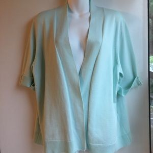 89TH & MADISON MINT GREEN SWEATER TOP SIZE 2X